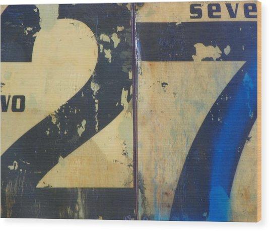 27 Wood Print by Bernie Smolnik