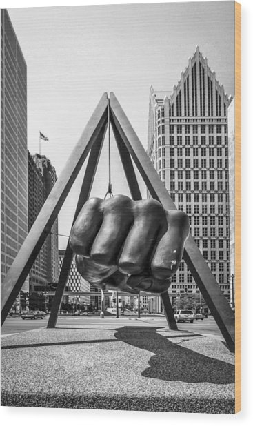 Detroit Wood Print