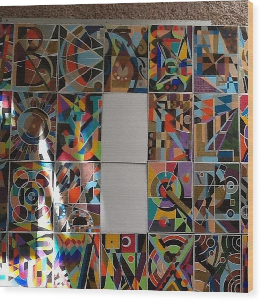 New Alphabet Series Wood Print