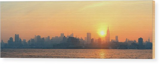 New York City Skyscrapers Wood Print