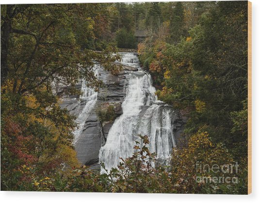 2757 High Falls Wood Print by Stephen Parker