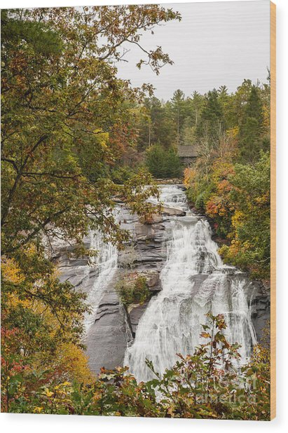 2759 High Falls Wood Print by Stephen Parker