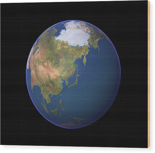 Earth Wood Print by Planetary Visions Ltd/science Photo Library