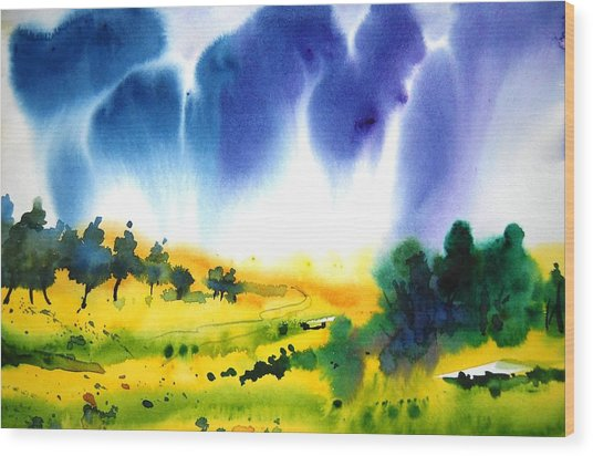 Sold Wood Print by Sanjay Punekar