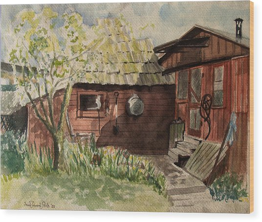 A Shanty Called Home Wood Print