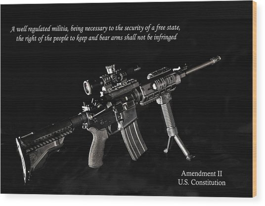 2nd Amendment Wood Print