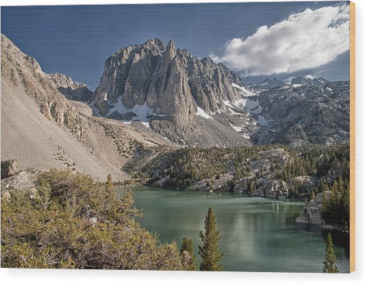 2nd Lake And Temple Crag Wood Print