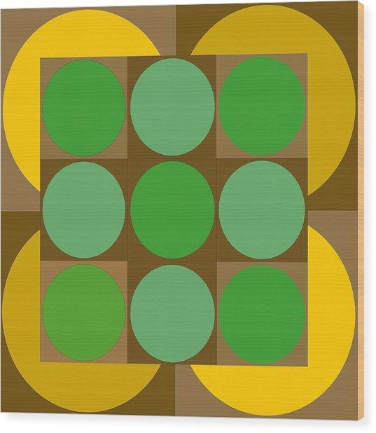 2x2vasarelyh Wood Print by Robert Van Es