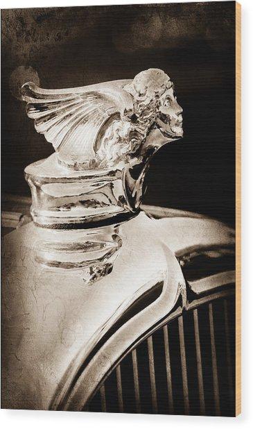 Wood Print featuring the photograph 1927 Buick Goddess Hood Ornament by Jill Reger
