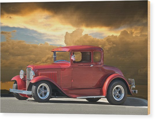 1931 Ford Model A Coupe Wood Print by Dave Koontz