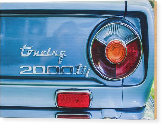 1972 Bmw 2000 Tii Touring Taillight Emblem -0182c Wood Print