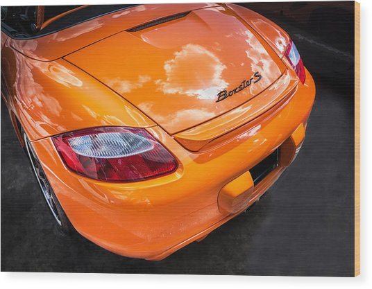 2008 Porsche Limited Edition Orange Boxster  Wood Print