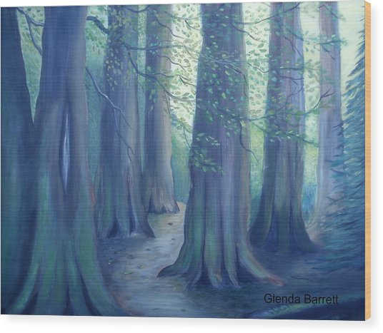 A Morning Stroll Wood Print by Glenda Barrett