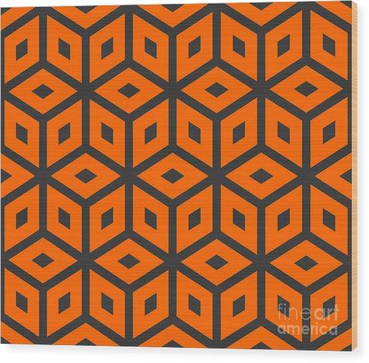 Abstract Retro Pattern. Vector Wood Print by Artsandra
