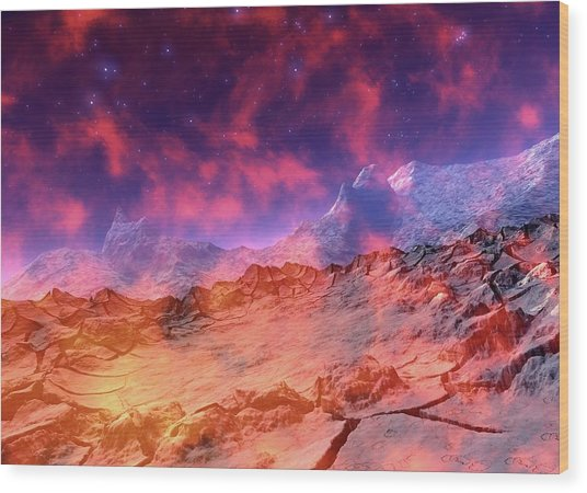 Alien Planet Wood Print by Victor Habbick Visions/science Photo Library