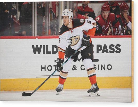 Anaheim Ducks V Arizona Coyotes Wood Print by Christian Petersen