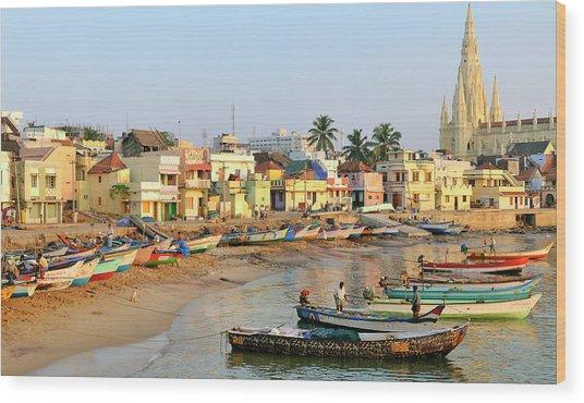 Asia, India, Tamil Nadu, Kanniyakumari Wood Print