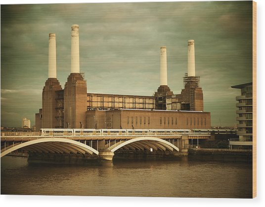 Battersea Power Station London Wood Print