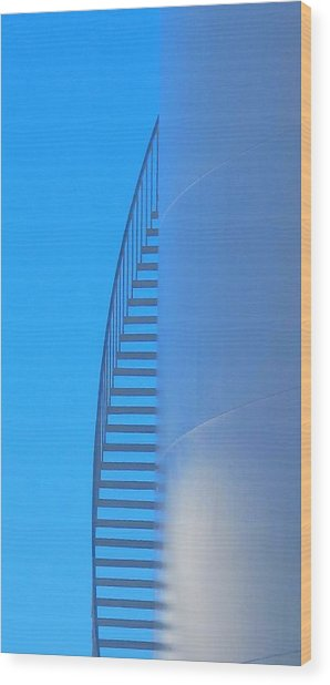 Blue Stairs Wood Print by John King