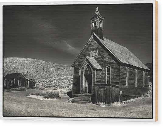 Bodie Church Wood Print by Robert Fawcett