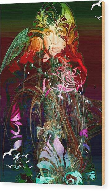 Britney  Wood Print by Bogdan Floridana Oana
