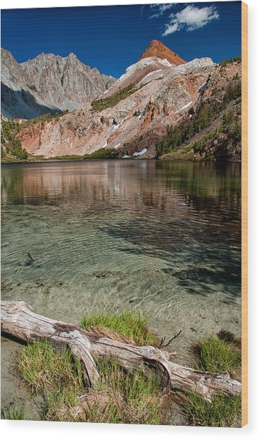 Bull Lake And Chocolate Peak Wood Print