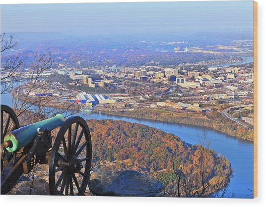 Chattanooga In Autumn Wood Print