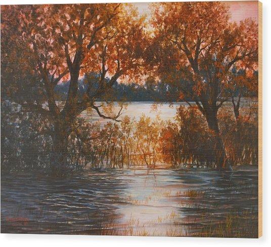 Cheney Sunset Wood Print