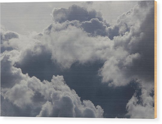 Cloudscape Wood Print by Ron Romanosky