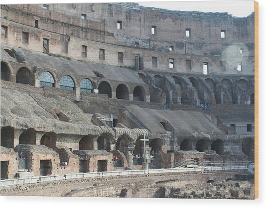 Coloseum Wood Print by Dick Willis