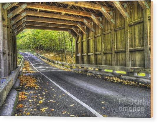 Covered Bridge At Sleeping Bear Dunes Wood Print by Twenty Two North Photography