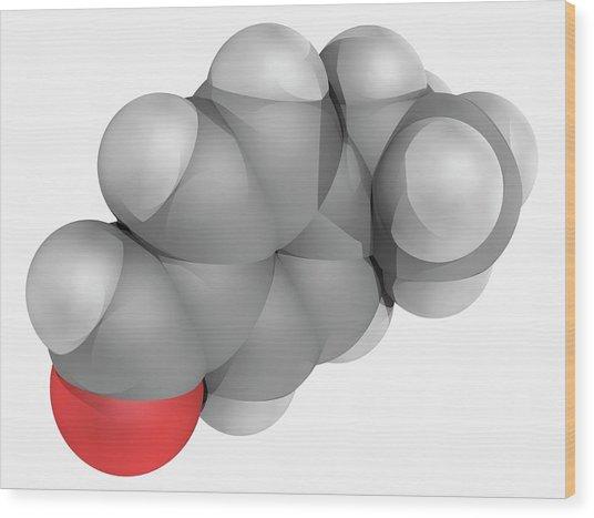 Cuminaldehyde Molecule Wood Print by Laguna Design/science Photo Library