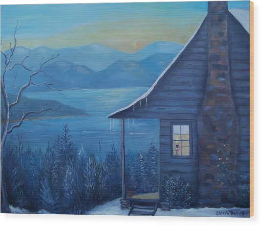Daybreak Wood Print by Glenda Barrett