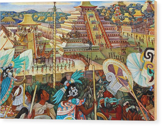 Diego Rivera Mural Mexico City Wood Print