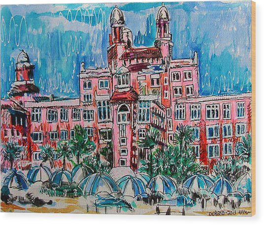 Don Cesar Hotel Wood Print