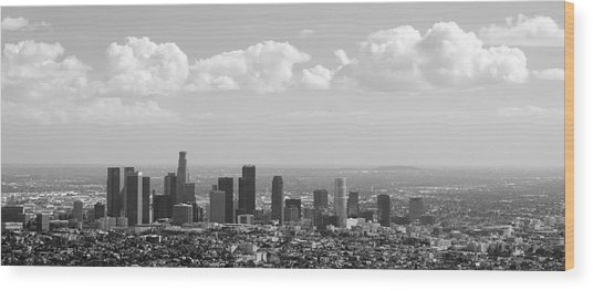 Downtown Of Los Angeles Wood Print