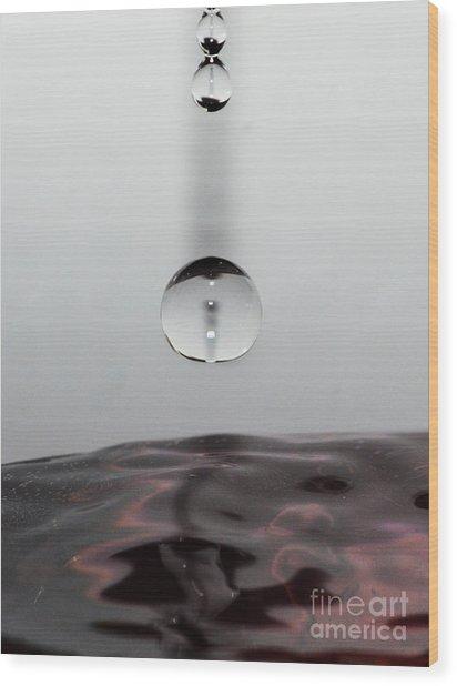 3 Drops Wood Print