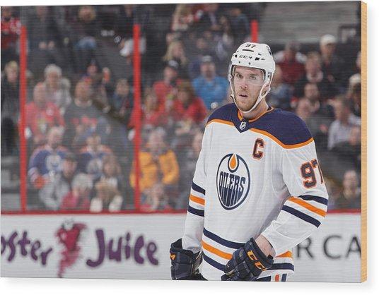 Edmonton Oilers V Ottawa Senators Wood Print by Jana Chytilova/Freestyle Photo