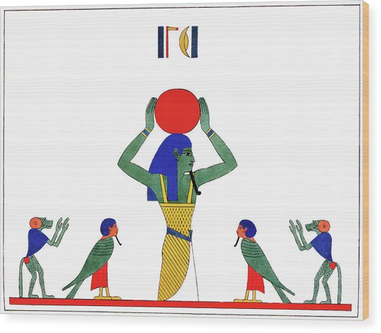 Egypt Khonsu, 1823 Wood Print