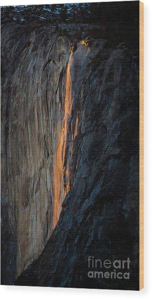 Firefall Wood Print