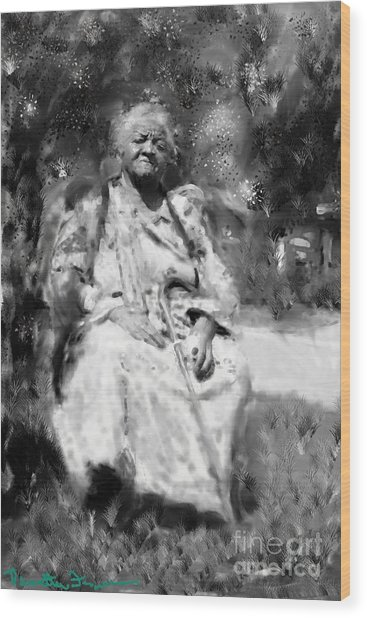 Former Slave Woman Wood Print