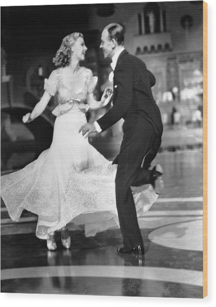 Fred Astaire Wood Print