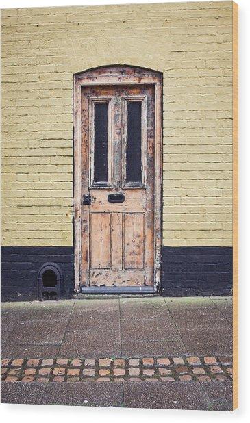 Front Door Wood Print