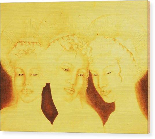 3 Graces Wood Print