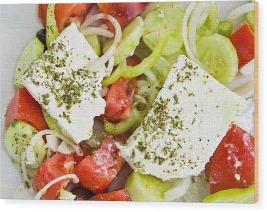 Greek Salad Wood Print