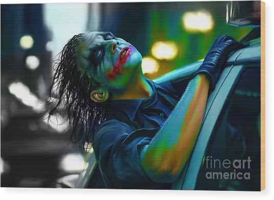 Heath Ledger Wood Print