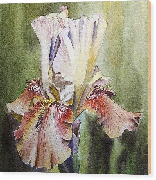 Iris Painting Wood Print