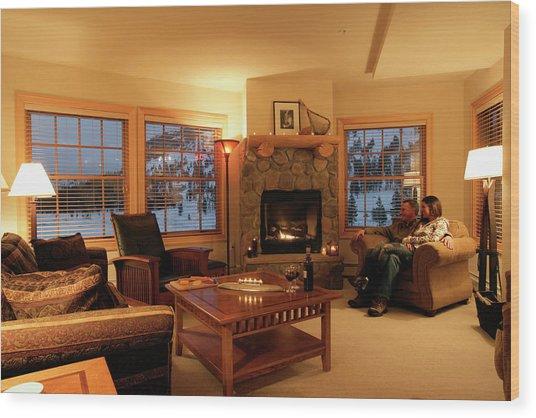 Kirkwood Ski Resort Wood Print