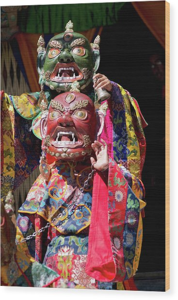 Ladakh, India The Ceremonial Masked Wood Print