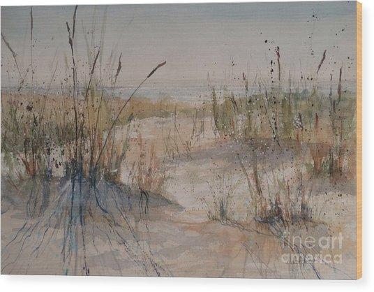 Lake Michigan Dune Wood Print